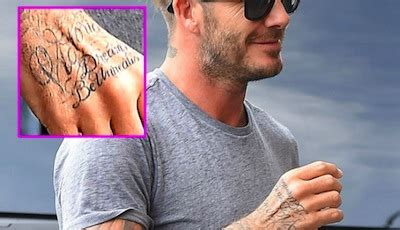 david beckham tattoo jay z david beckham and his tattoos tattoo com