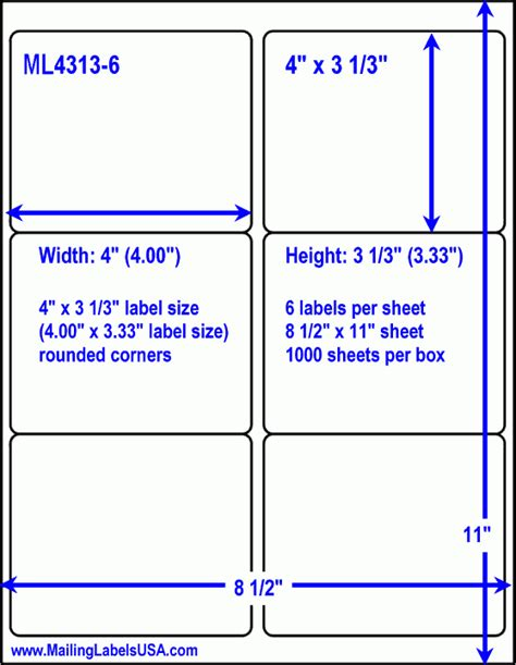 White Shipping Labels Laser Shipping Labels Similar To Avery 5164 5364 8464 Label Size 4 33 Label Template