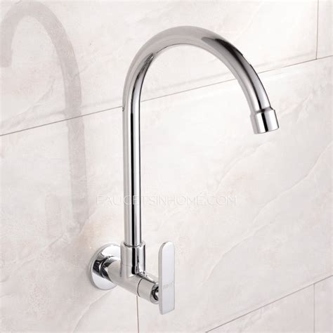 wall kitchen faucet affordable cold water single wall mount kitchen faucet