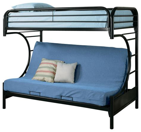 Bunk Bed Accessories Fordham C Style Metal Futon Bunk Bed W Smooth Rounded Edges Contemporary