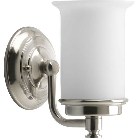 Brushed Nickel Light Fixture Progress Lighting Currents Collection 1 Light Brushed Nickel Vanity Fixture P3059 09di The