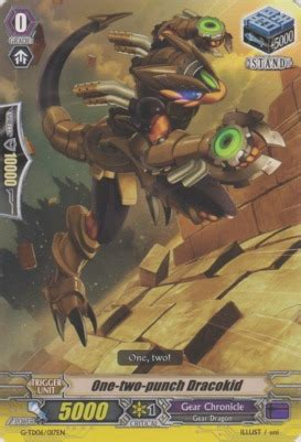 Cardfight Vanguard Singles Hardrod Dracokid one two punch dracokid g td06 017en td cardfight