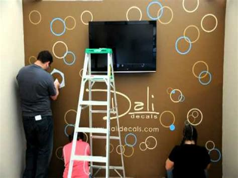 dali wall decals circles  bubbles installation youtube