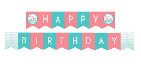 happy birthday banner diy printable diy printable spa party happy birthday banner instant
