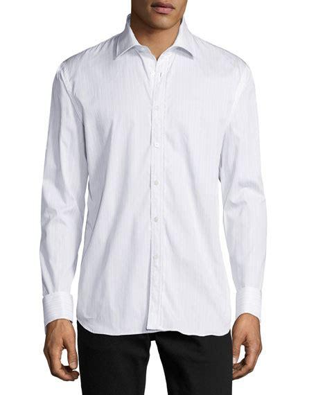 Original Moc Gosha Kemeja Light Blue burberry striped button front shirt w lace trim light blue modesens