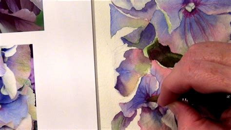 watercolor hydrangea tutorial paint instructions for hydrangeas watercolor painting