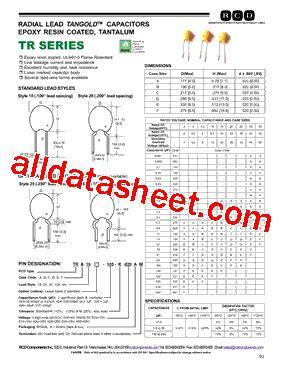 ceramic capacitor datasheet esr trd10 104 datasheet pdf rcd components inc