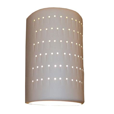 Ceramic Wall Sconce Filament Design Daniel Paintable Bisque Ceramic Outdoor Wall Sconce Cli Edg807310 The Home Depot