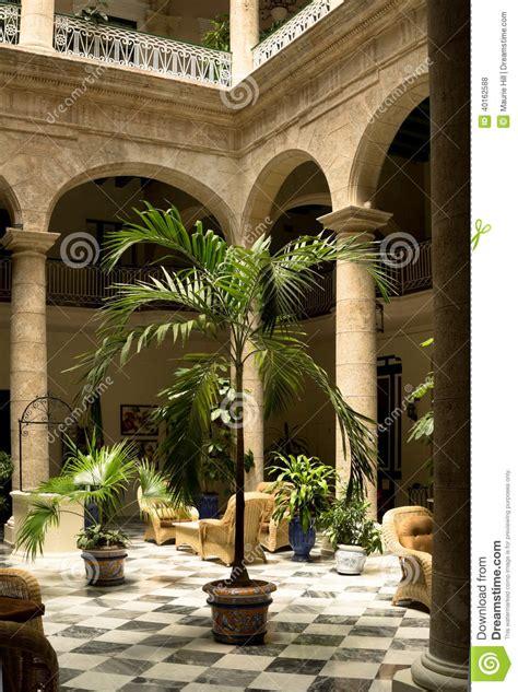 Mediterranean House Plans At havana cuba interior courtyard stock photo image 40162588
