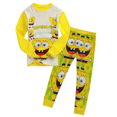 Piyama Sleepwear Character Stln Set Kid Piyama Spongebob spongebob boys pajamas clothing