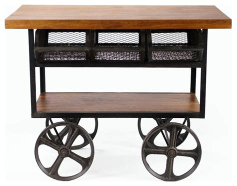 industrial bar cart ozark rolling industrial style console cart industrial