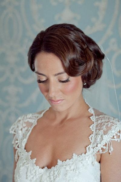 vintage new jersey inn wedding dewy makeup vintage - Wedding Hairstyles Nj