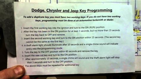 dodge chrysler jeep key programming