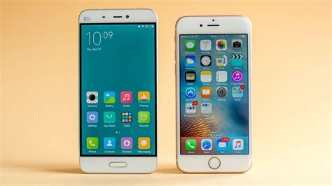 xiaomi mi 5 vs iphone 6s comparison apples to apples androidpit