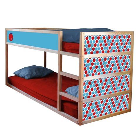 Ikea Hochbett Kinderbett by Folie Bygraziela F 252 R Ikea Kura Hochbett Apfel Blau Rot