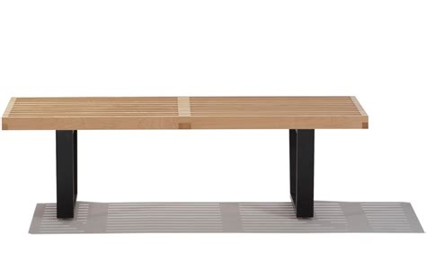george nelson platform bench george nelson platform bench with wood base hivemodern com