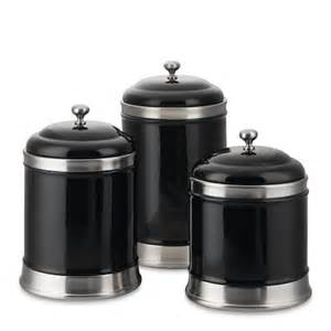 Black Ceramic Kitchen Canisters by Williams Sonoma Canisters Set Of 3 Black Secret Board