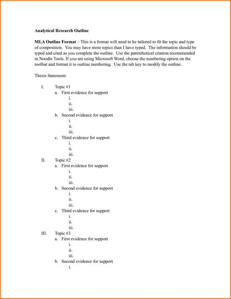 Mla Essay Outline by How To Write An Analytical Research Essay The Classroom Sle Research Paper Outline In Apa