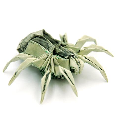 Origami Spider - won park s animal dollar bill origami taildom