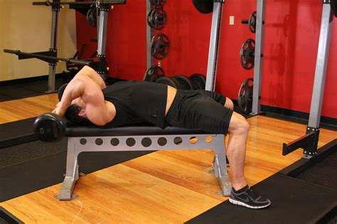 straight bench press lying close grip barbell triceps extension behind the head