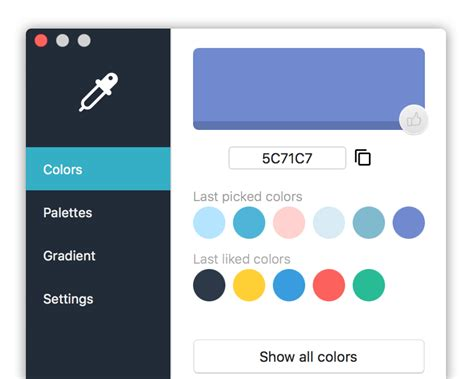 color palette picker kelir mac app for color picker color palette color
