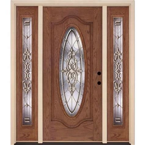 home depot front doors with sidelights feather river doors silverdale brass oval stained