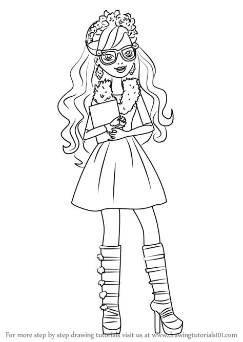 ever after high coloring pages rosabella learn how to draw rosabella beauty from ever after high