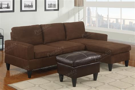 sectional sofa in microfiber and leather w free ottoman