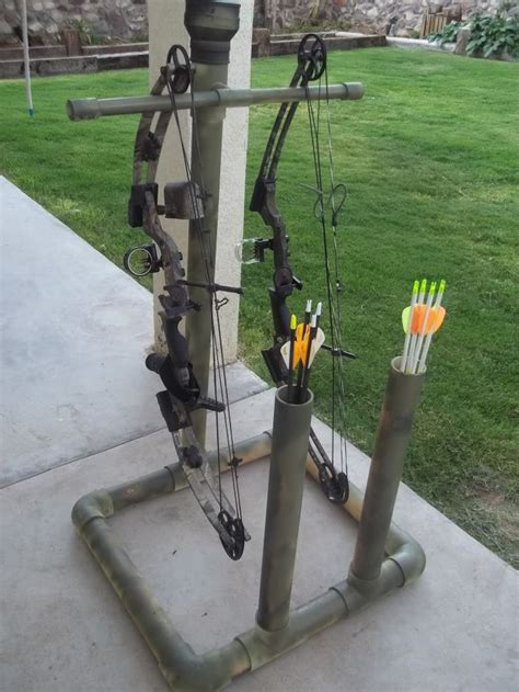 archery bow stand plans diy pvc bow stand plans