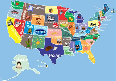 us map for kid maps of the united states for to color
