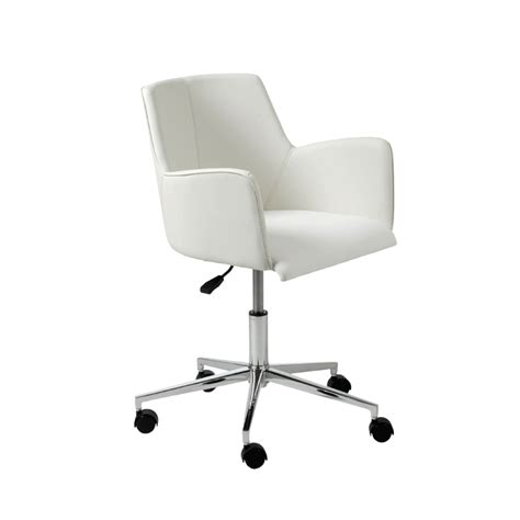 white office desk chairs white swivel office chair office chairs