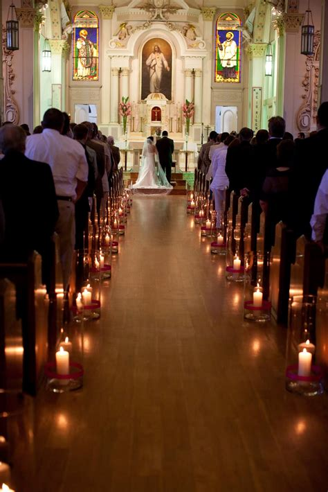 wedding aisle decorations with candles creative church wedding candles decorations weddceremony