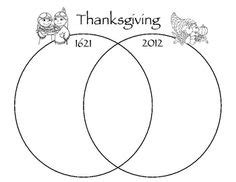 thanksgiving then and now venn diagram venn diagram printable can be used for students to compare