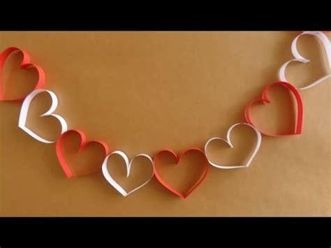 cadenas con rollos de papel cadena de corazones super facil san valentin youtube