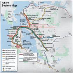 Bay Area Bart Map by Bay Area Rapid Transit Bart San Francisco California