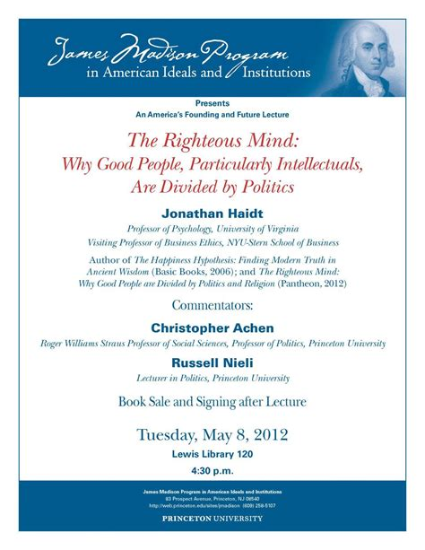 Nyu Mba Invitations by The Righteous Mind Why Particularly