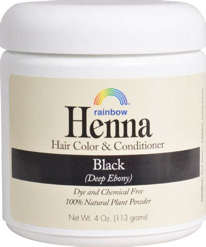 rainbow research henna hair color and conditioner black shop at ebates