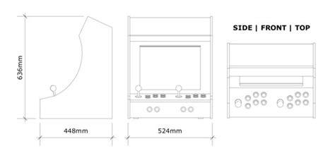 Bartop Arcade Machine Plans Bartop Arcade Cabinet Template Cabinets Matttroy
