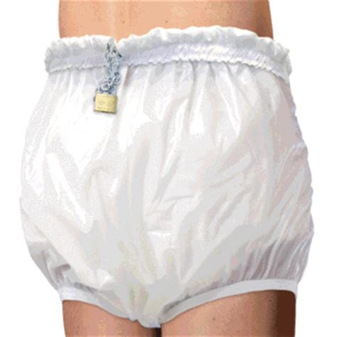 locking adult plastic pants and diapers high waist thick locking plastic pants rearz inc