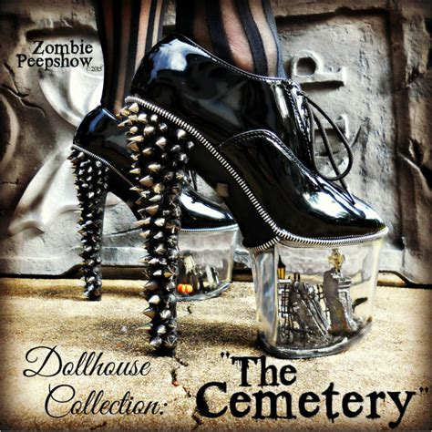 graveyard shoes dollhouse collection quot the cemetery quot miniature spike