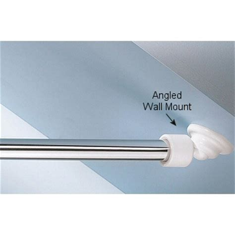 angled wall angled shower rod wall mount low cost sloped or angled