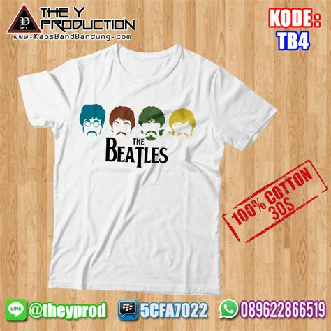 Kaos Band The Beatles 01 Pre Order kaos the beatles tb4 kaosbandbandung