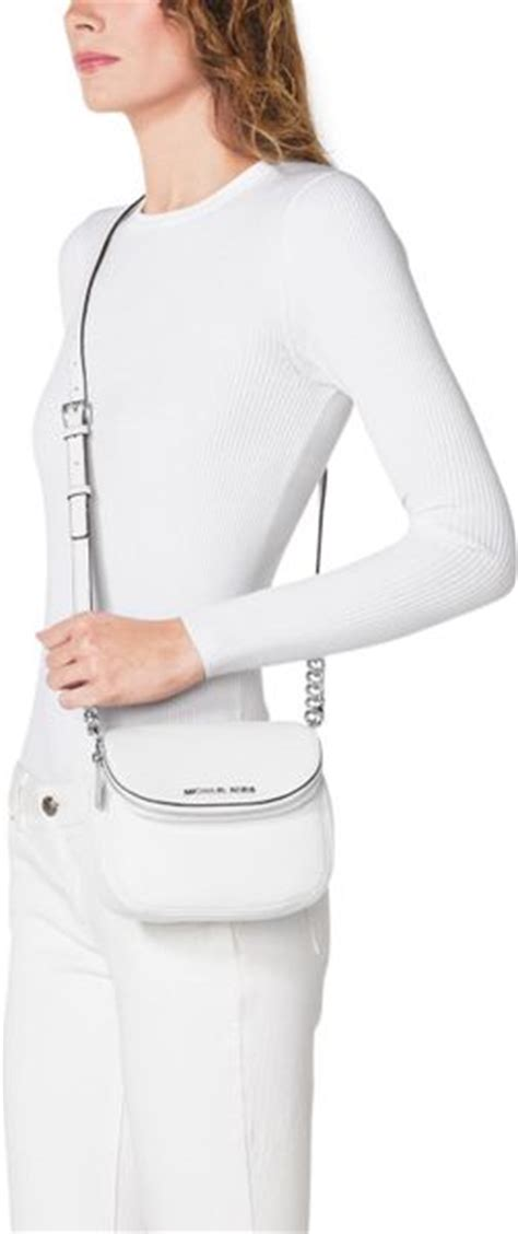 Michael Kors Bedford Optic White michael michael kors bedford flap crossbody in white optic white lyst