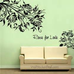 wall sticker images rose for love rose flower wall stickers wallstickerdeal com