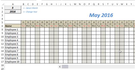 Free Excel Leave Tracker Template Updated For 2018 Template Employee Days Calendar Template