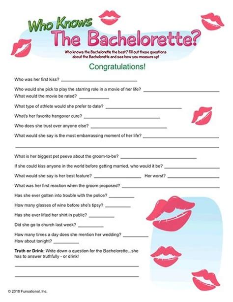 Question To Play Or 47 Best Images About Bachelorette On Bingo And Hens
