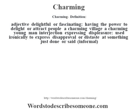 charming definition charming meaning words to describe someone