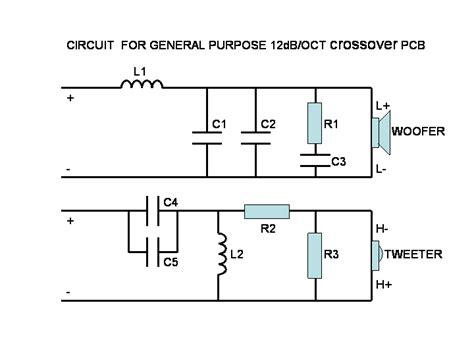 subwoofer crossover circuit diagram pin loudspeaker schematic diagram and cabinet design plan