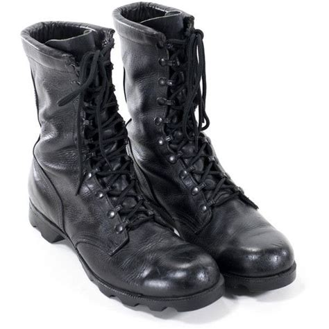 vintage boots black leather army steel toe combat