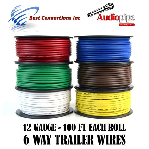 trailer wire light cable for harness 6 way cord 12